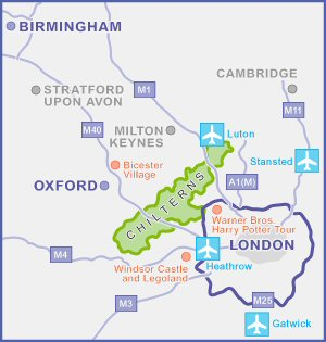 Chilterns map