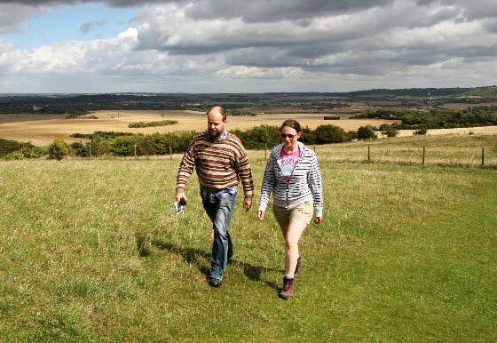 Walkers on Ivinghoe Beacon