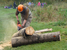 Cutting logs for use in the Chess