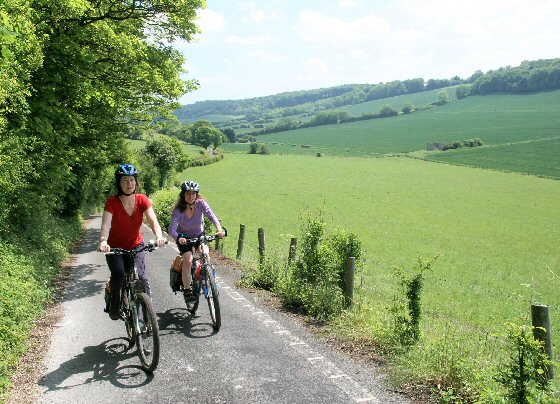 Cyclists in the Radnage Valley